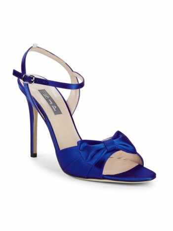 Louise Satin Bow Stiletto Sandals