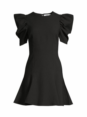 Alia Puff-Sleeve Mini Dress