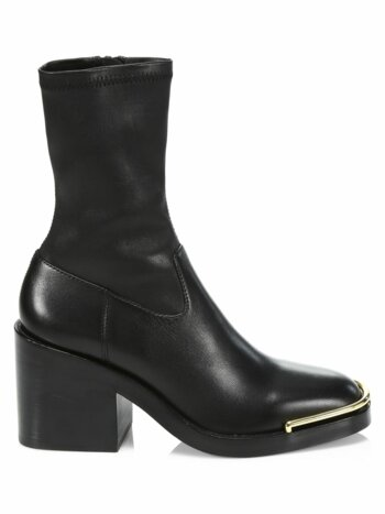 Hailey Stretch-Leather Ankle Boots