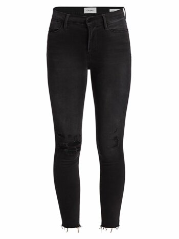 Le High Raw-Edge Crop Skinny Jeans