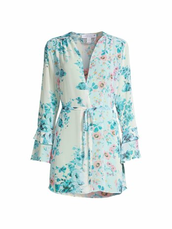 Songbird Wrapper Floral Chiffon Robe