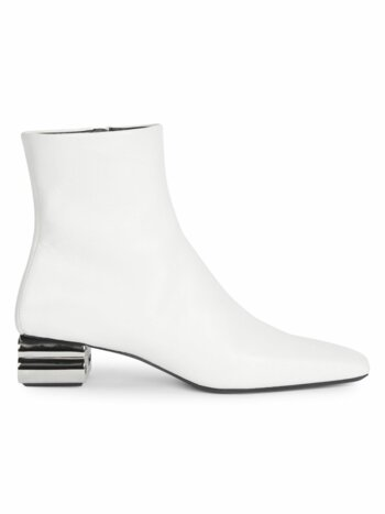 Typo Square-Toe Leather Ankle Boots
